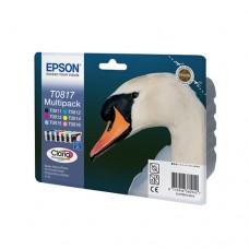 Набор оригинальных струйных картриджей Epson T0817